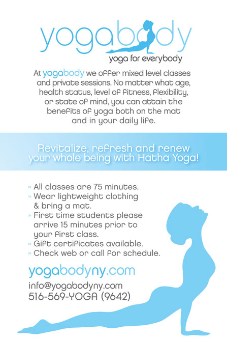 YogaBody Flyer 21 yogabody website and studio launch